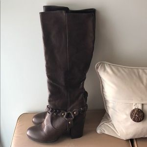 Shoes - Dark brown knee high boots